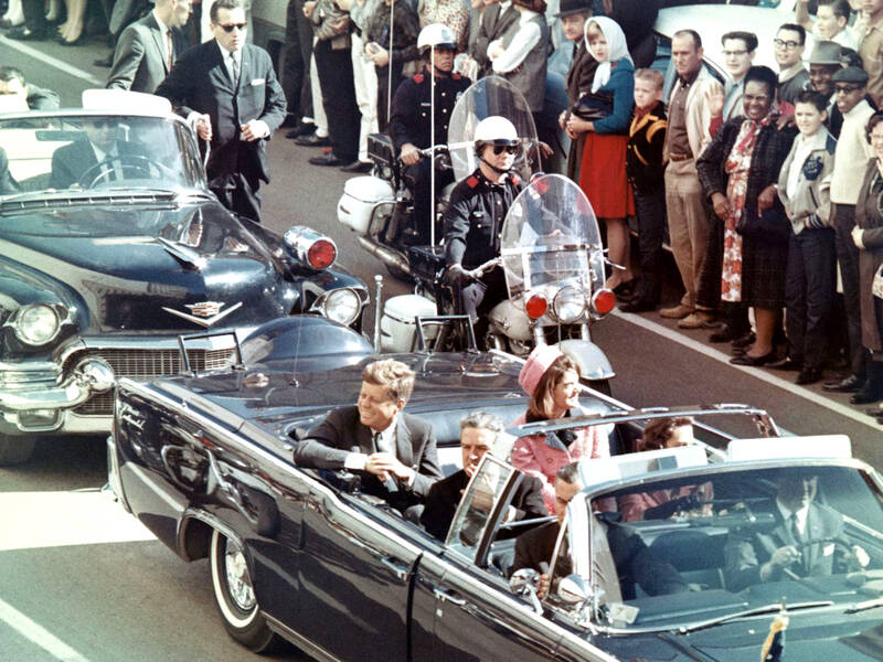 John F Kennedy Motorcade In Dallas