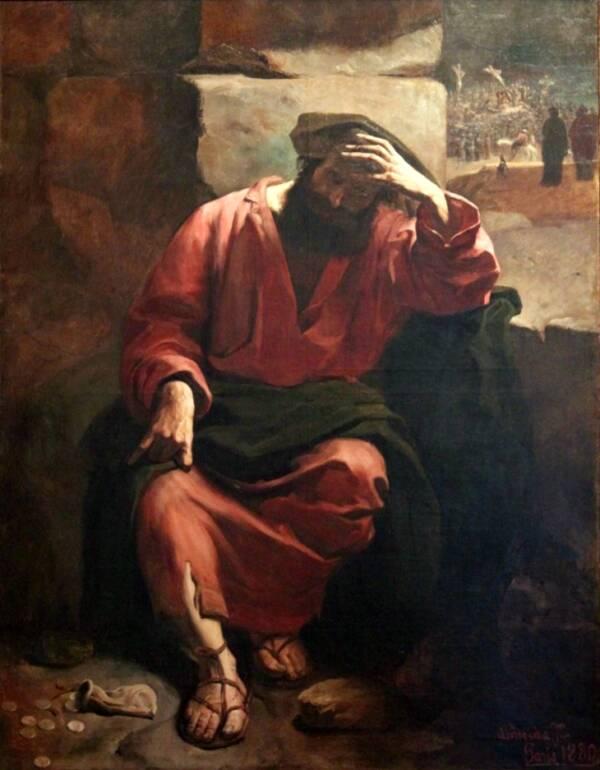 Judas Castin Aside Money