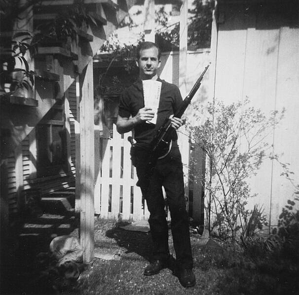Lee Harvey Oswald With His Rifle