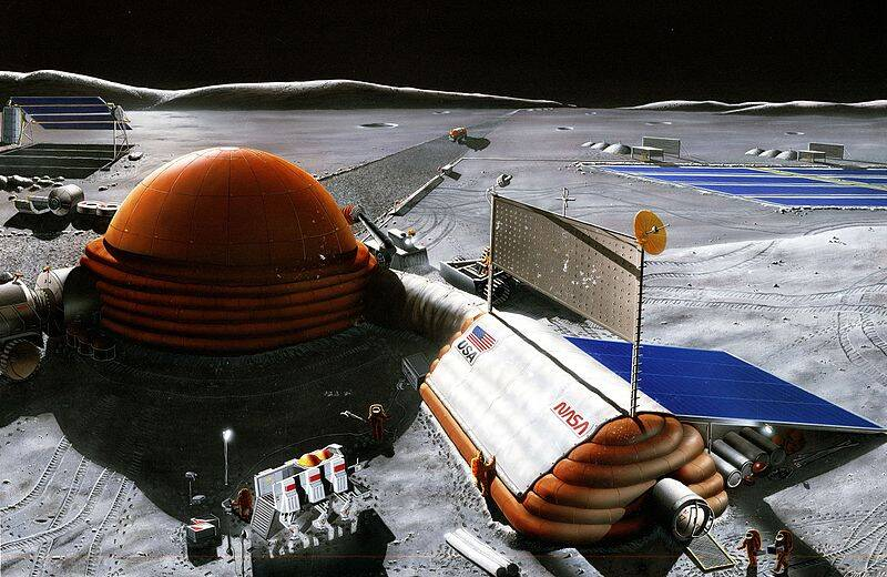 NASA Lunar Base Illustration