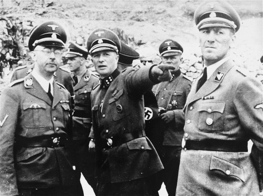 Nazi Leaders At Mauthausen Camp