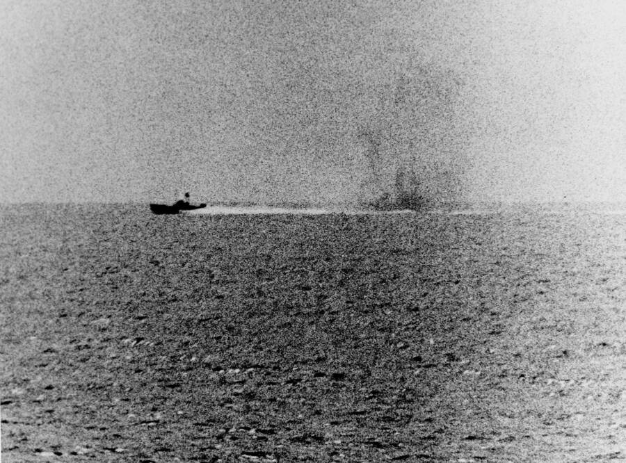 North Vietnamese Torpedo Boats Under Fire