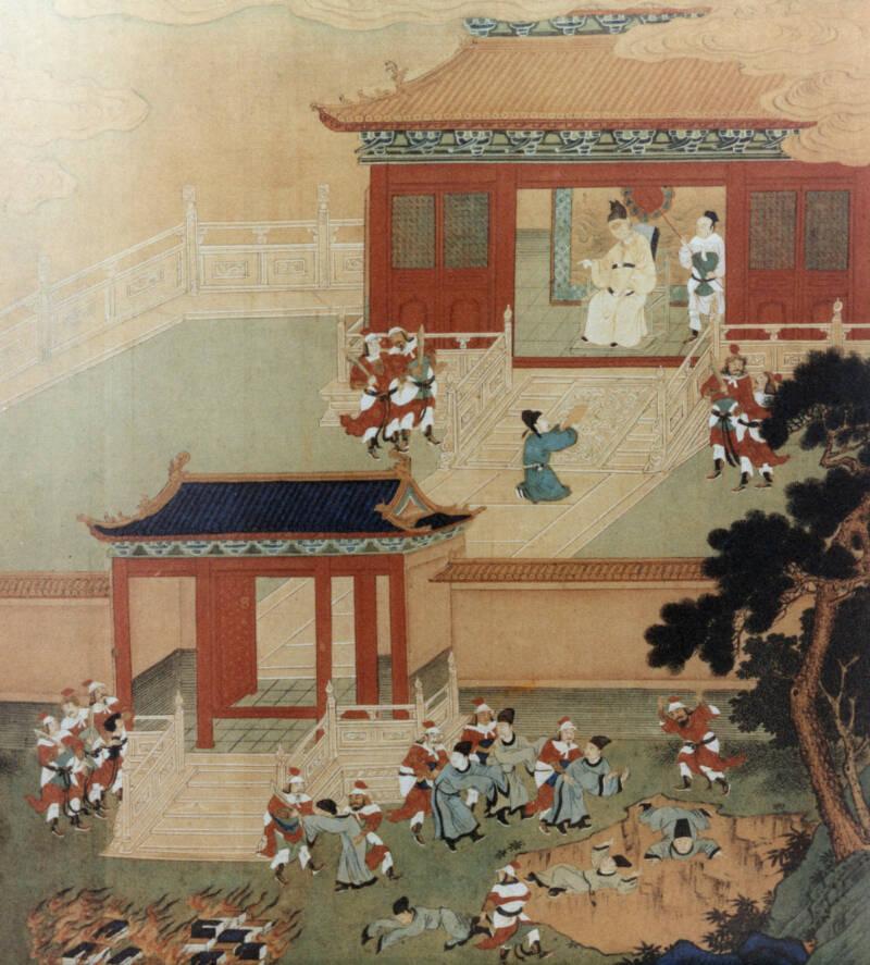 Qin Shi Huang Killing Confucian Scholars