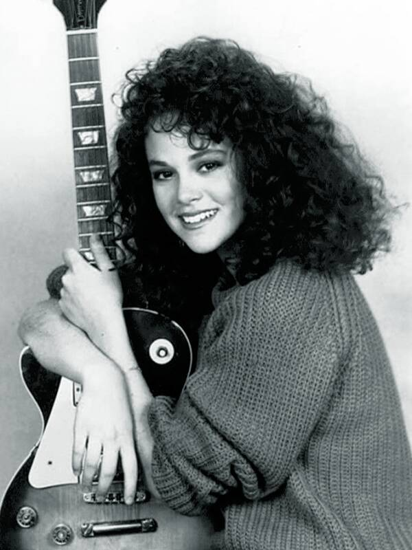 Rebecca Schaeffer With Guitar