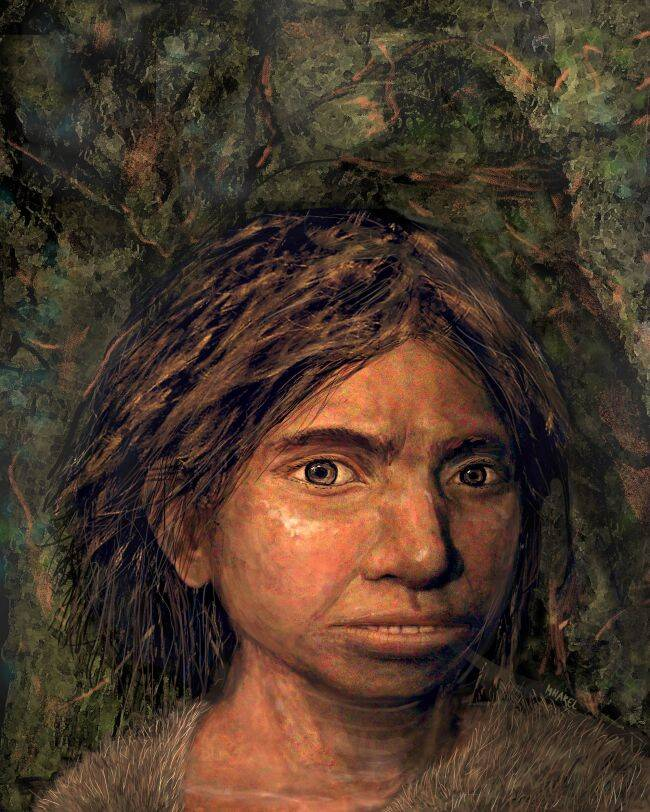 Rendering Of Denisovan Girl