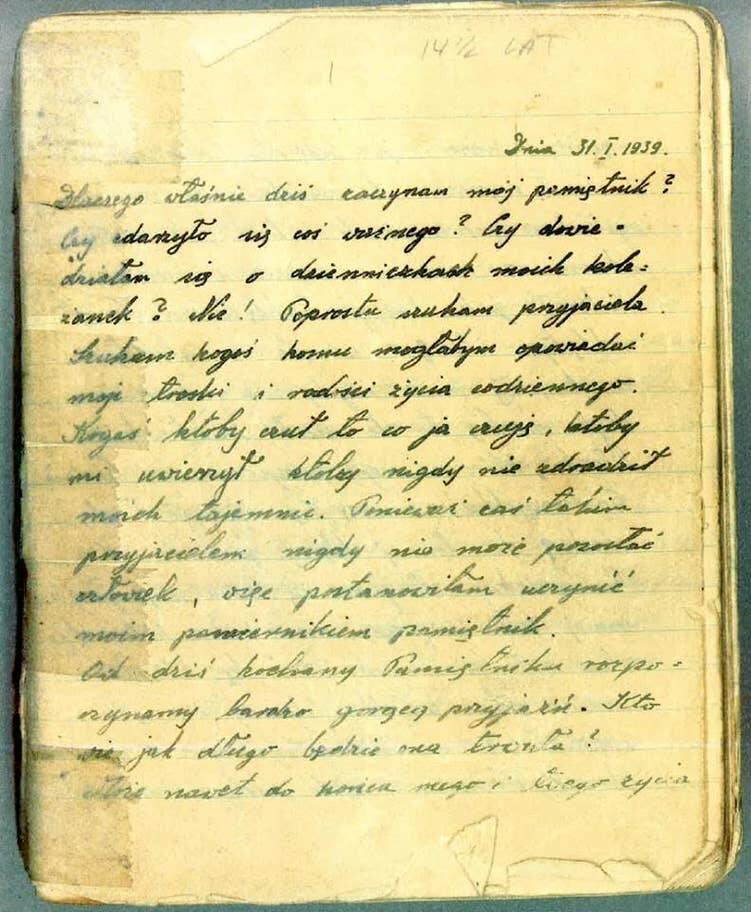 Renia Spiegel Diary Entry