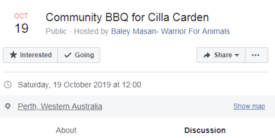 Revenge Barbecue For Cilla Carden