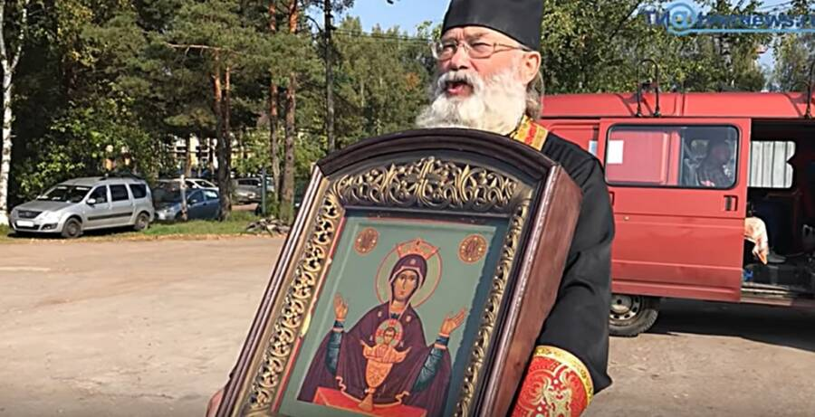 Russian Priest With Inexhaustible Chalice