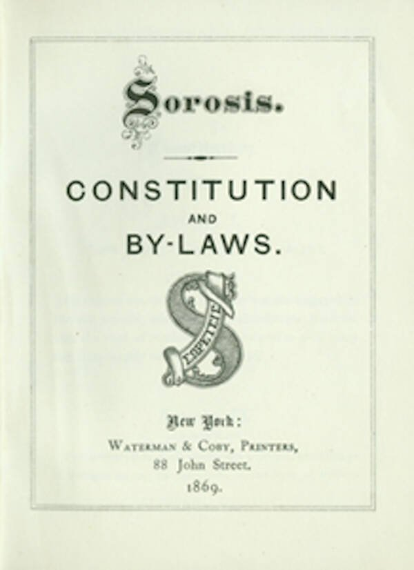 Sorosis Club Rules