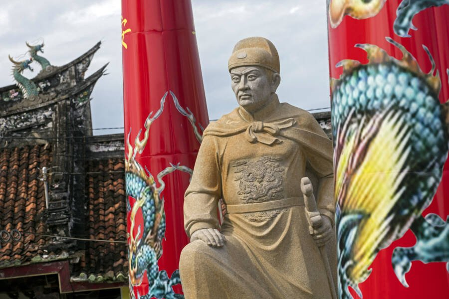 Statue Of Zheng He In Indonesia
