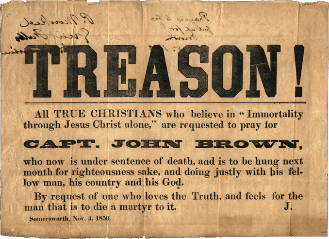 Treason Poster For John Brown