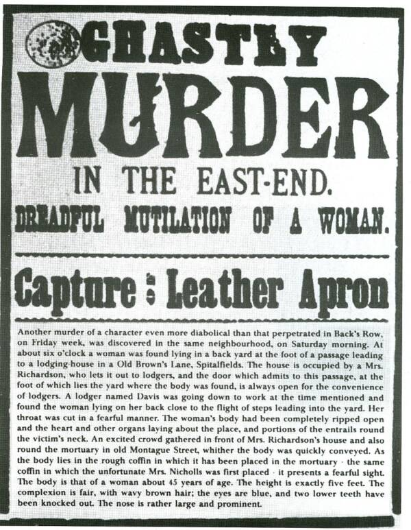 Wanted Poster For Jack The Ripper