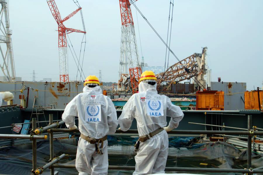 Workers At Fukushima Daiichi Plant