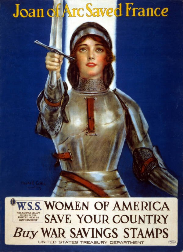 Ww1 Poster With Joan Of Arc