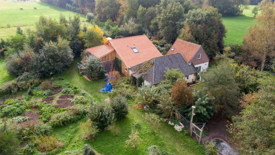 Aerial View Of The Drenthe Farmhouse