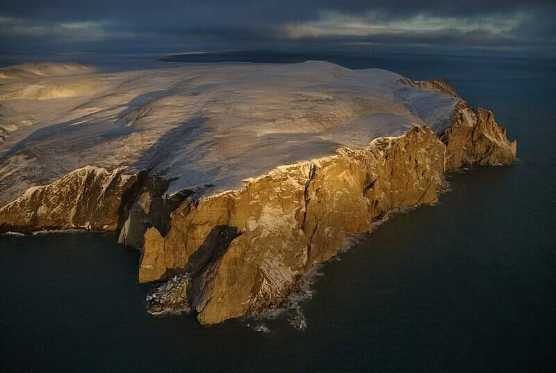 Aerial View Of Wrangel Island