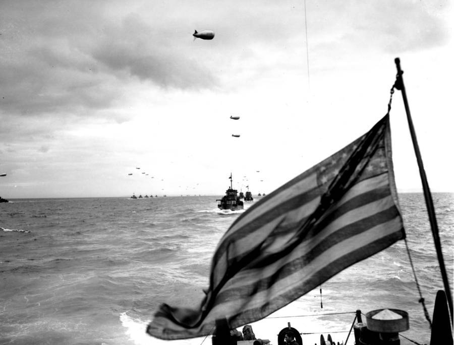 Allied Ships Invading Normandy