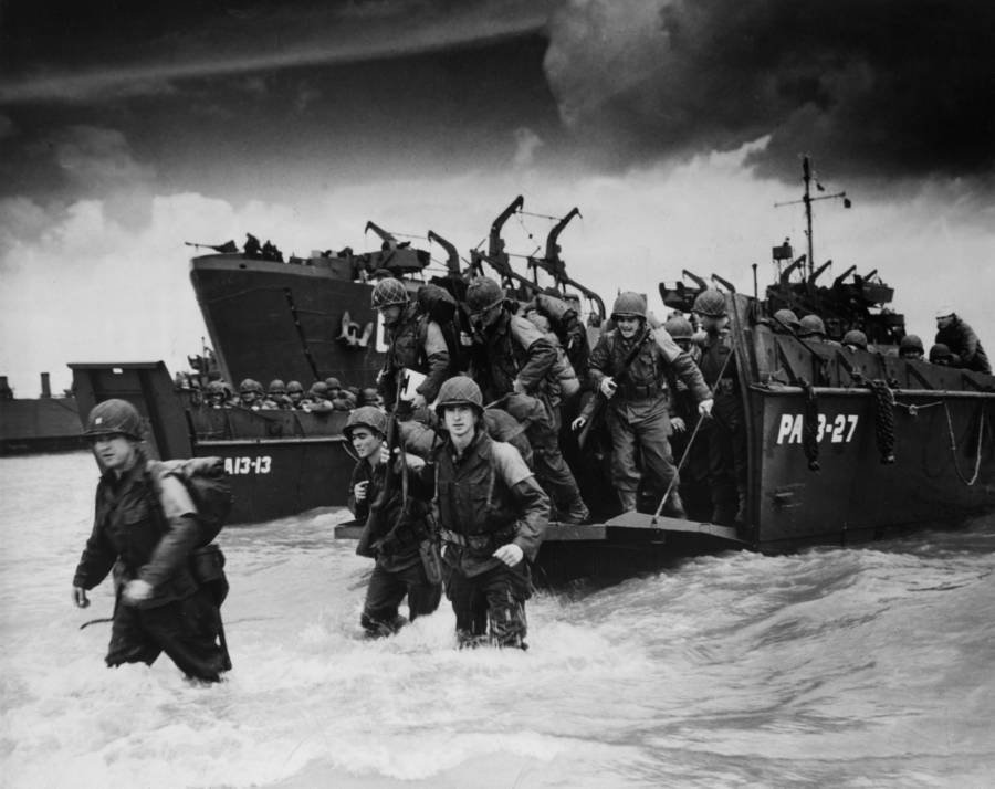 Allied Troops Arrive At Normandy