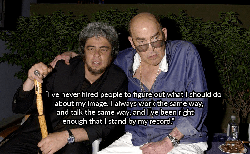 Benicio Del Toro And Hunter Thompson