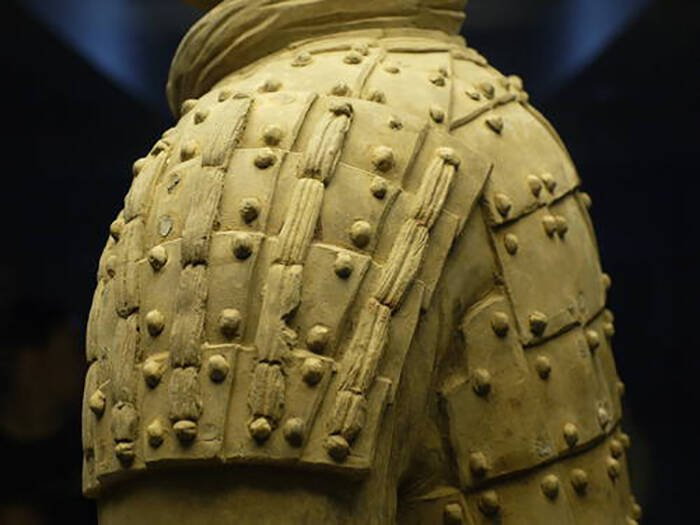 Closeup Terracotta Warrior Armor