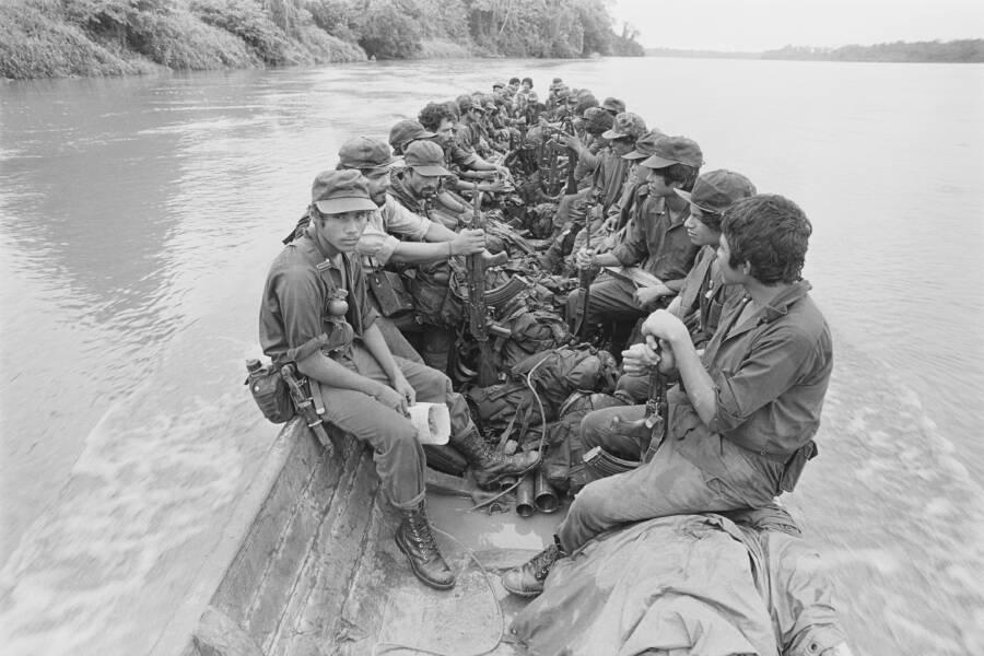 Contra Forces Moving Down San Juan River