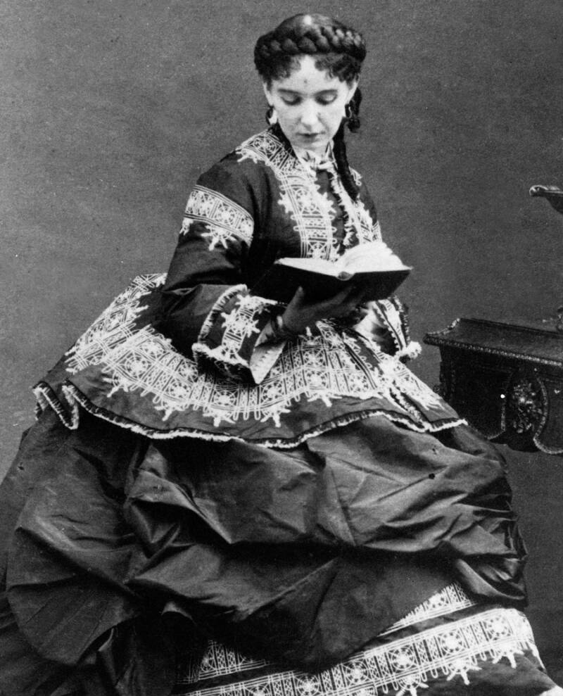 Cora Pearl Reading A Book