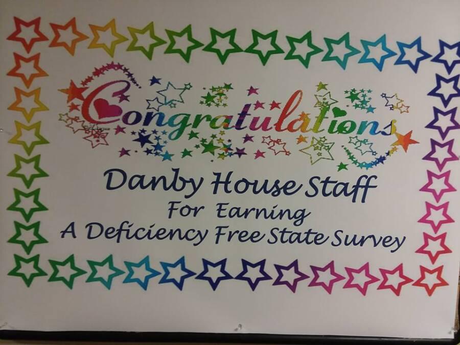 Danby House Staff Deficiencies Sticker