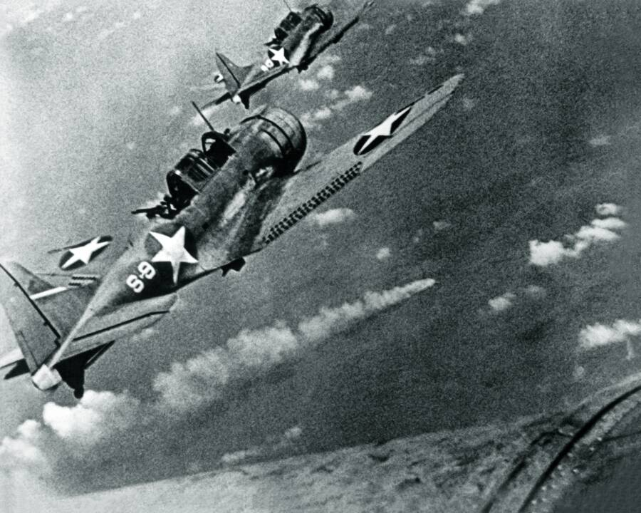 Dauntless Bombers Over Mikuma