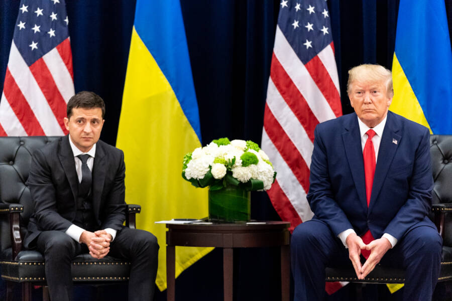 Donald Trump And Volodymyr Zelensky