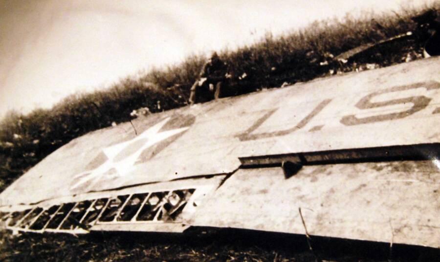 Doolittle Sitting Crashed Bomber