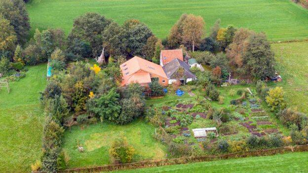Drenthe Farmhouse From Above
