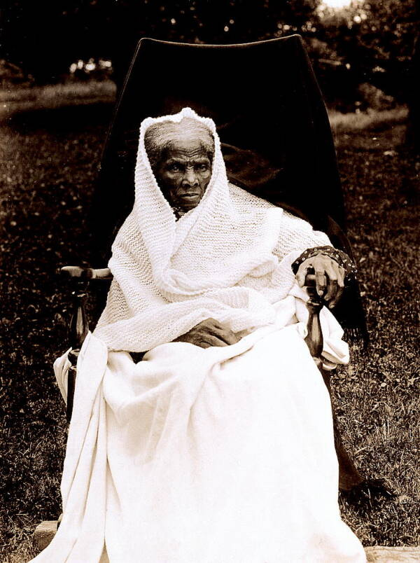 Elderly Harriet Tubman At Home