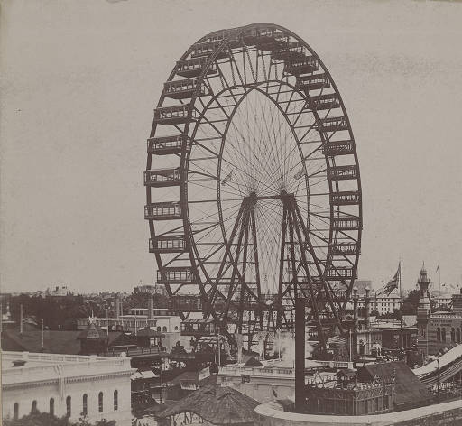 Ferris Wheel At Chicago World's Fair