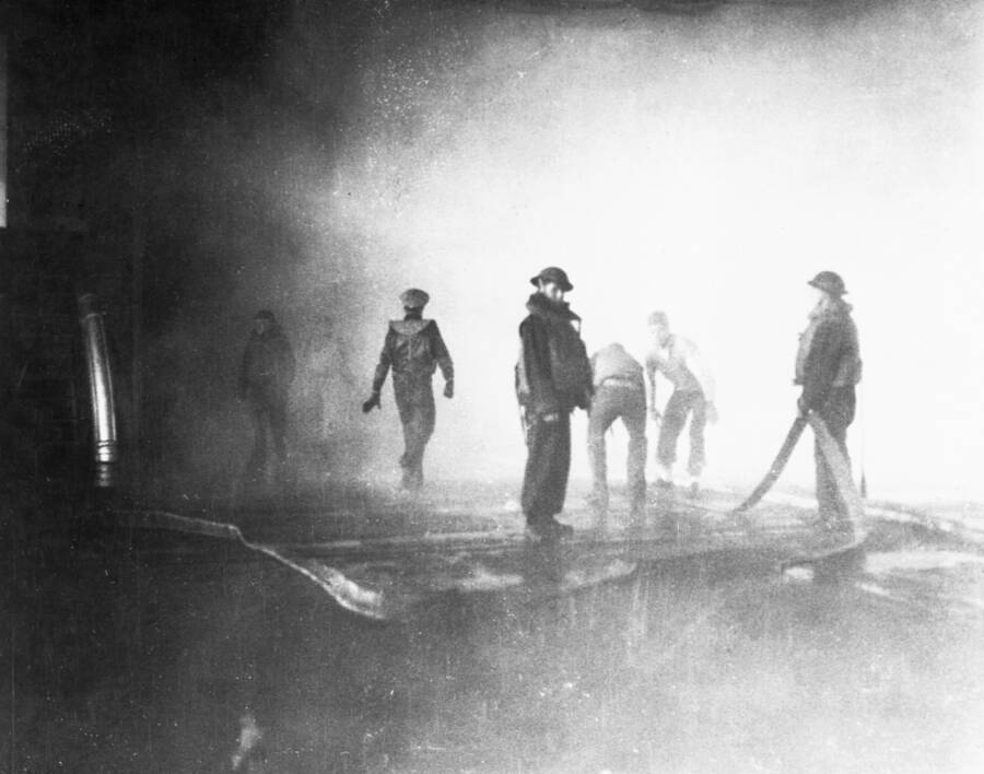 Fire Fighters Aboard Uss Yorktown