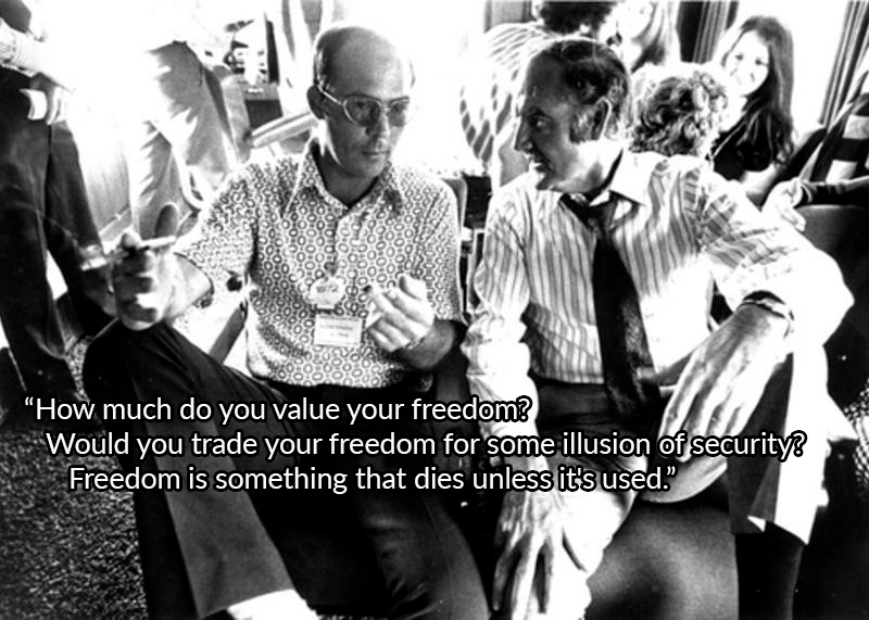 George Mcgovern And Hunter Thompson