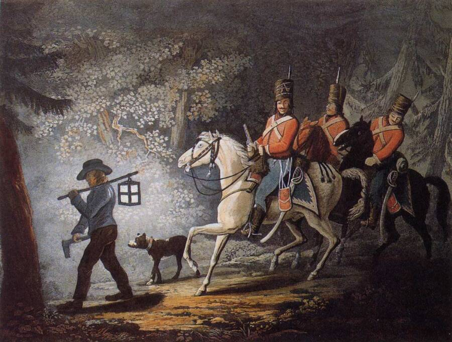 Hessian Soldiers On Horseback