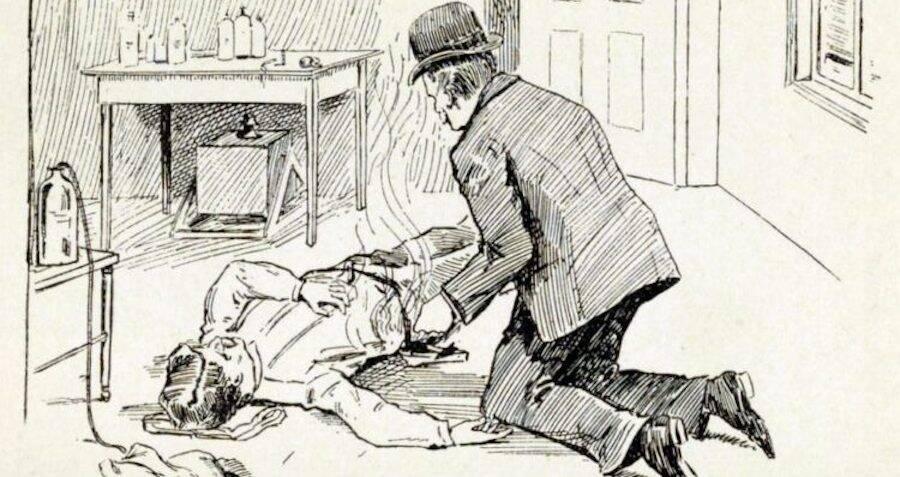 H.H. Holmes Burning Pitezel