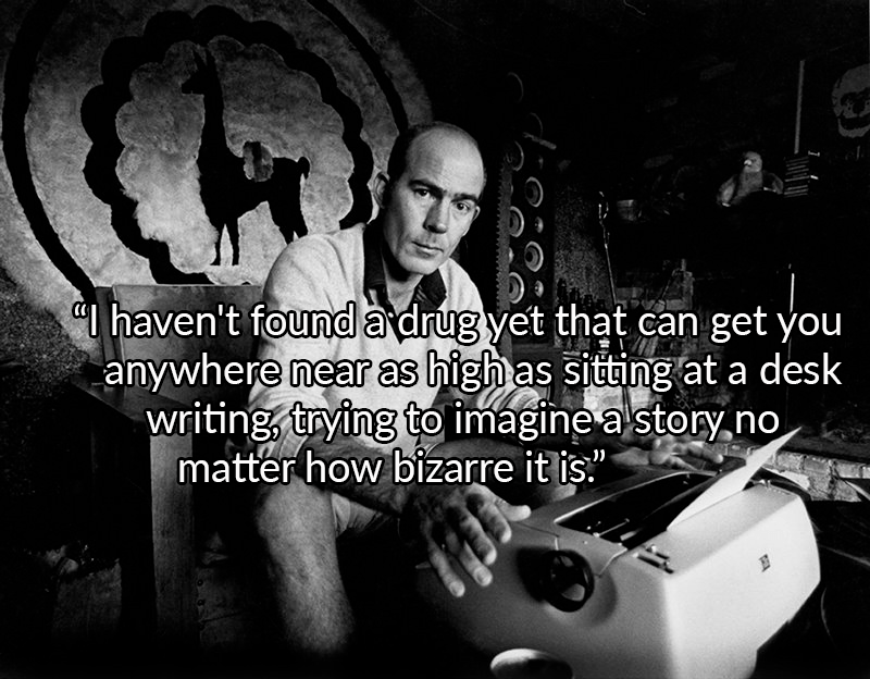 Hunter Thompson On His Typewriter