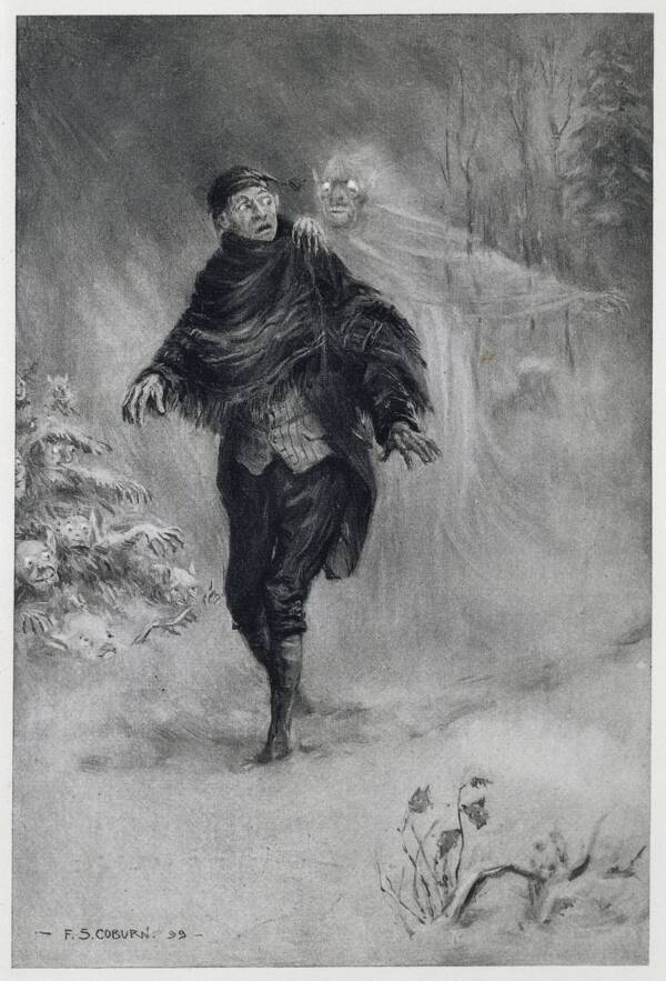Ichabod Crane And Ghostly Figure