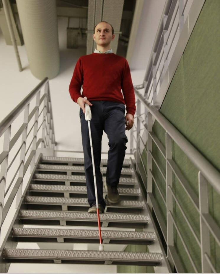 Inventor Smart Cane Stairs