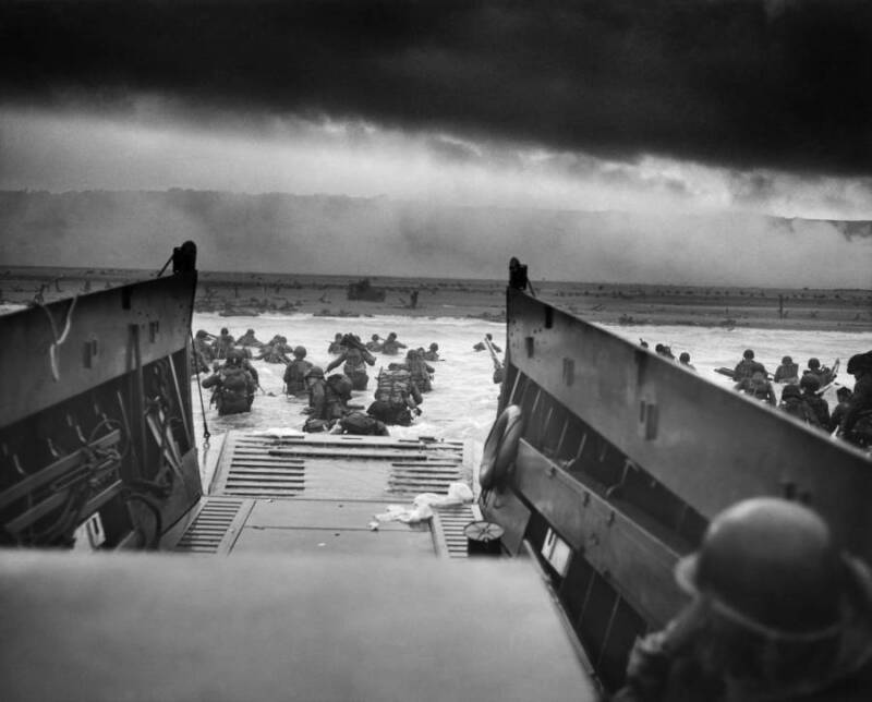 Troops Arrive At Normandy On D-Day