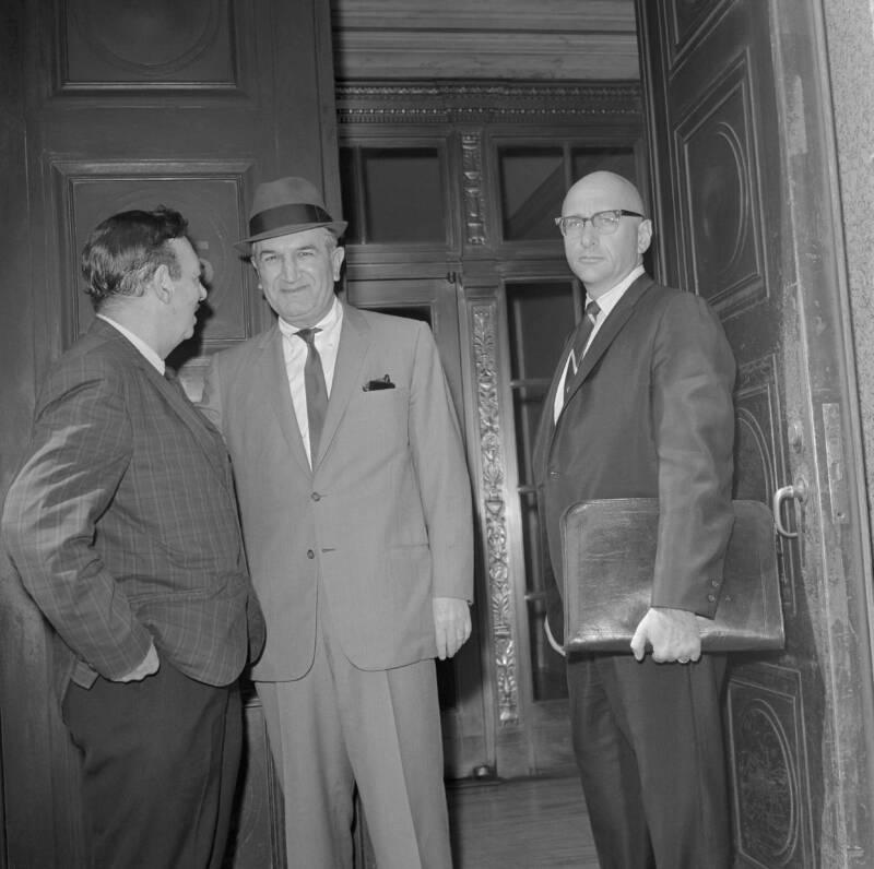 Joseph Bonanno With Attorney Albert Krieger