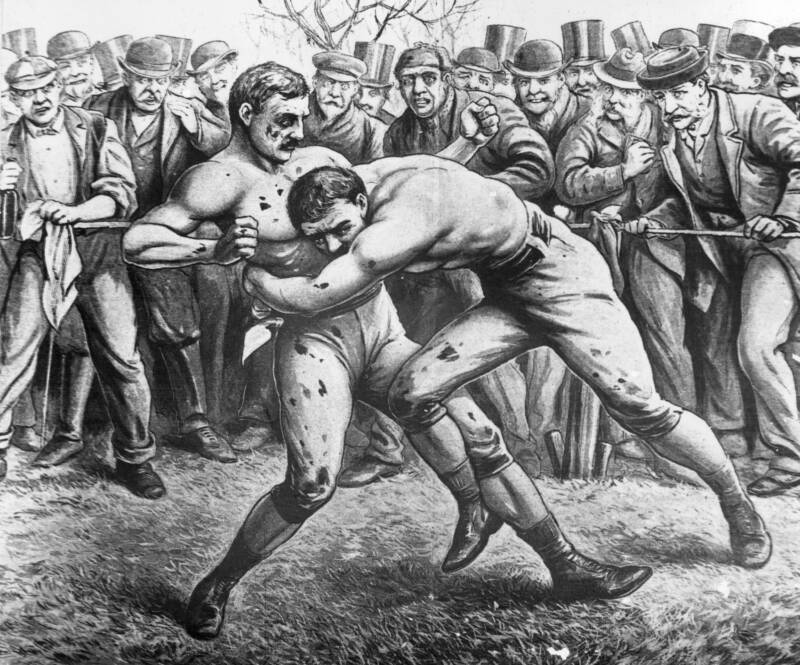 Men Boxing In The 19th Century