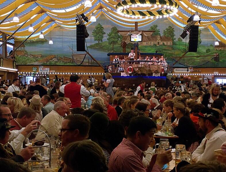 Music And Beer At Oktoberfest