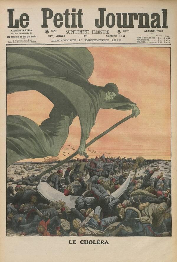 Newspaper Illustration Of Cholera Plague
