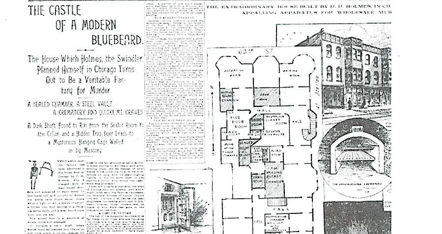 hh holmes hotel map