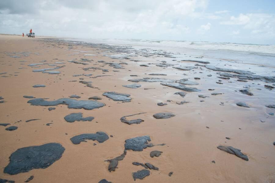 Oil On Brazilian Beach