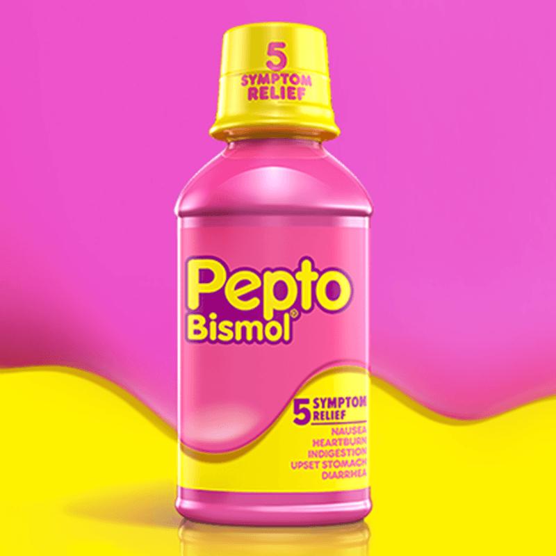 Pepto Bismol Pink Bottle