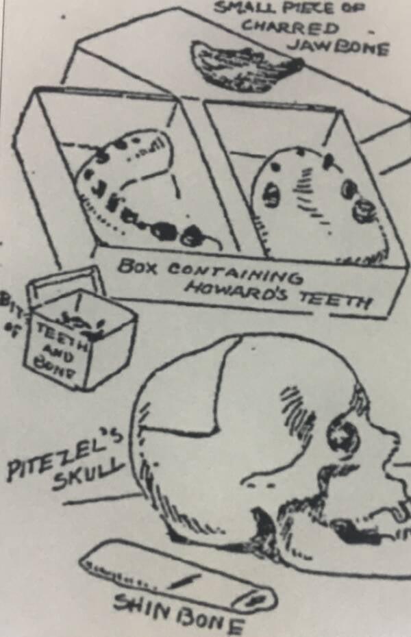 Pitezel Skull Fragments