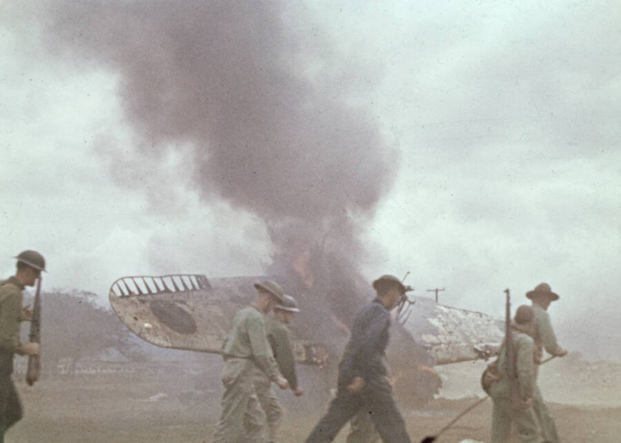 Plane Wreckage On Midway Atoll